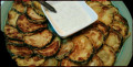 Хрупкави тиквички с чеснов сос