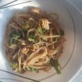 Спагети с пиле и броколи