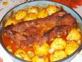 Апетитни медени ребърца с пресни картофки