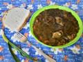 Готвен лапад със запържено свинско месо