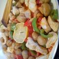 Пиле соте със зеленчуци