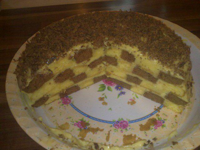 Домашна торта с крем ванилия