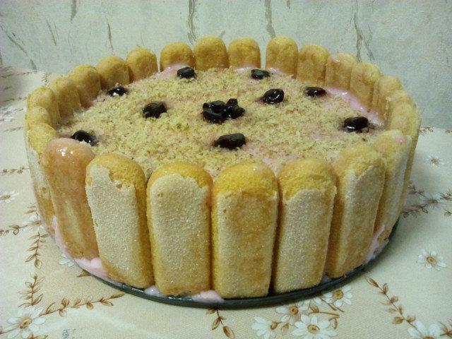 Торта бишкоти със сладко