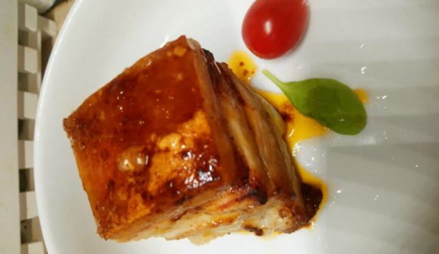 Печено свинско на фурна с гъби