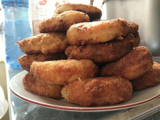 Картофени кюфтета с оризова спойка