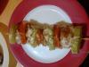 Шишчета от кюфтенца с тиквички и домати