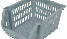 Кошница за съхранение - пластмасова - сива